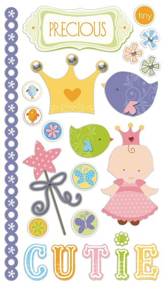 Tiny Princess Chipboard Stickers