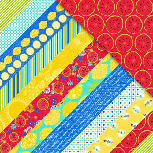 Sweet Summertime Diagonal Stripes