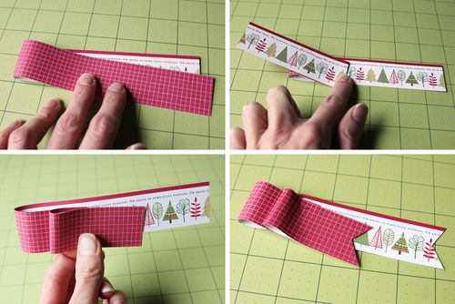 Paper Ribbon Tag Steps CindyT