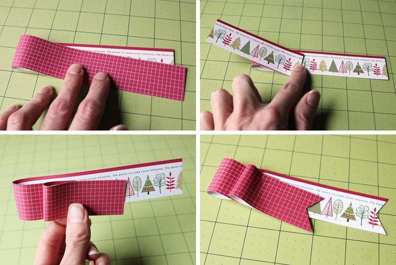 Paper Ribbon Tag Steps CindyT