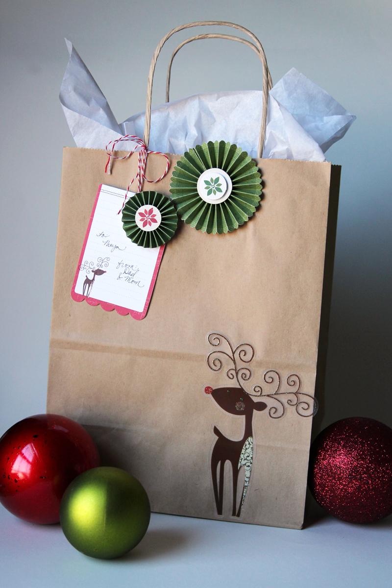 Reindeer Gift Bag CindyT