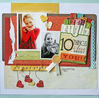 10 things layout by Danielle Flanders