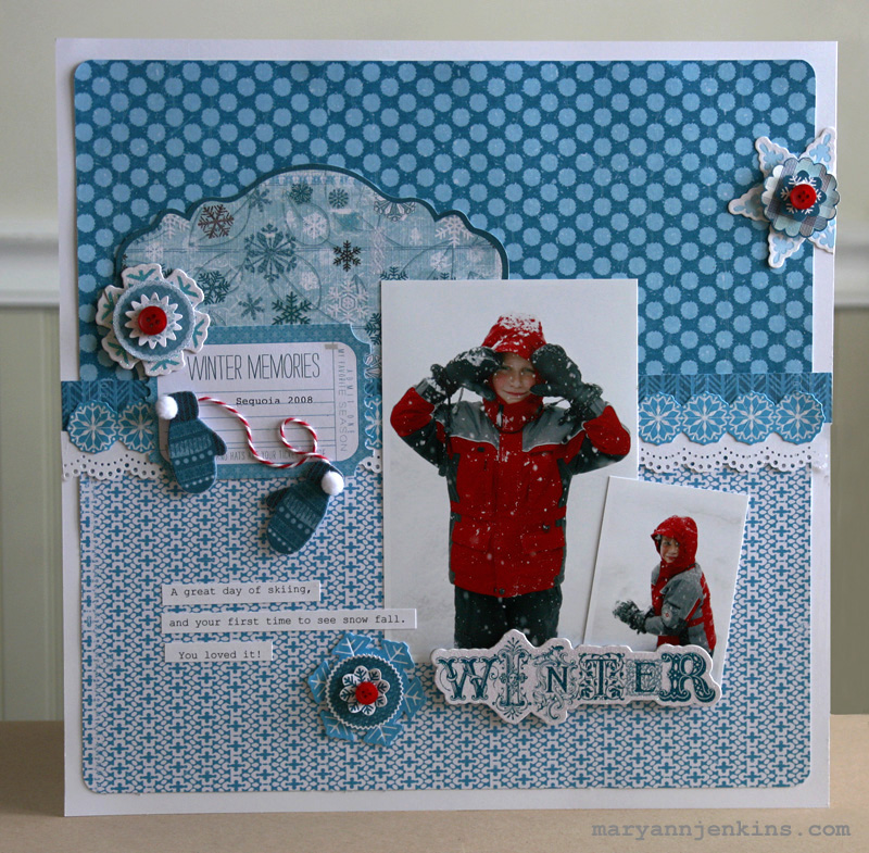Winter Memories Layout - LYB Blog