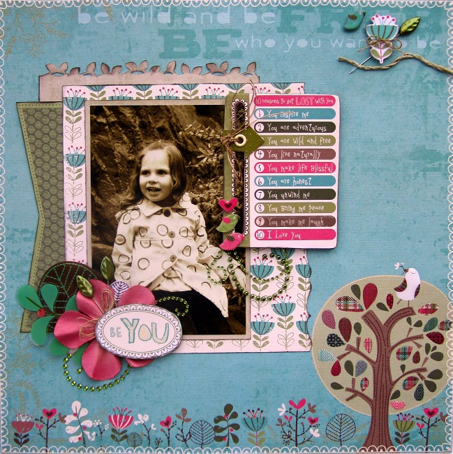 Eileen Mead Be You  - 12 x 12 Layout - Eileen Mead