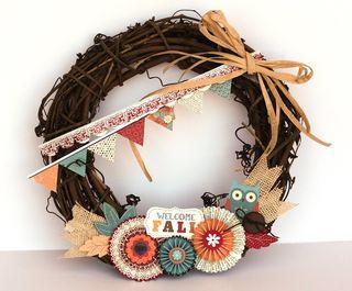 AH ghammond Fall wreath